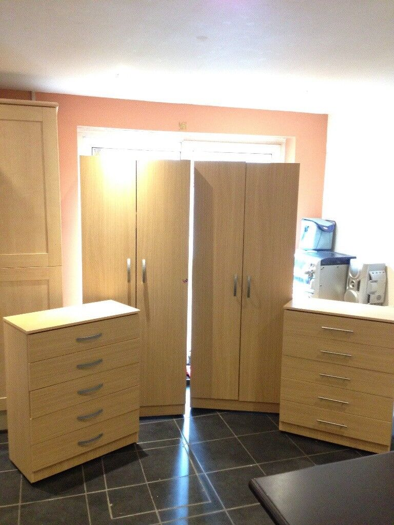 2 Wardrobes 2 Chest Of Draws Assembled Bedroom Furniture Set In Ilford London Gumtree