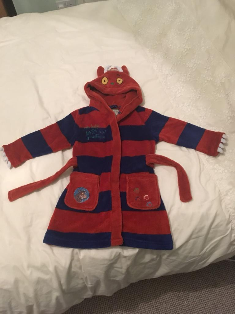 Gruffalo dressing gown bath robe Age 3-4