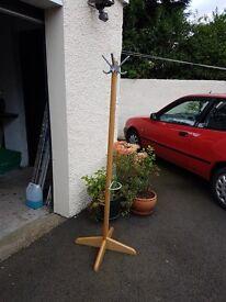 Laminate Oak Coat Stand & Umbrella Stand