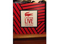Lacoste live aftershave gift set