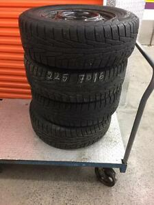 4 nokian winter tires with rims:225/70R16