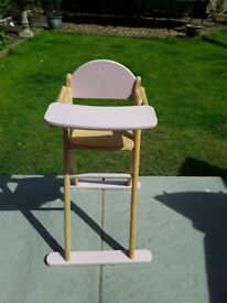 Wooden Toy Highchair from John Lewis