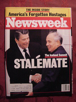 Newsweek October 20 1986 Oct 86 10 86 Iceland Summmit Carl Icahn Lebanon Aging