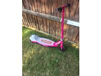 Pink Razor E90 electric scooter
