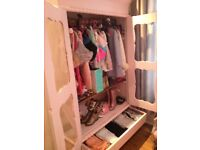 french double door glass wardrobe 💕 shabby chic💕
