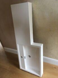 White stone resin sink top