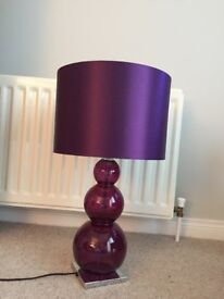 Purple next table lamp