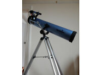 "Skywatcher 3"" Newtonian Reflector Telescope 76mm with Lenses and Tripod."