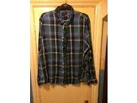 Blue check men's uk 3xl shirt good quality just needs an iron paid £30 for it only worn once
