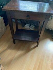 Beautiful Genuine LOMBOK Solid Indonesian Teak Hardwood Side Table / Bedside Table / Bedside Cabinet