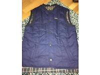 Men's blue quilted body warmer