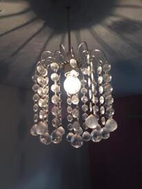 Crystal effect chandelier