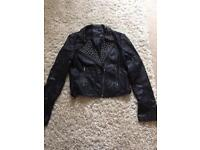 Ladies warehouse leather jacket size12