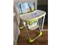 Chicco Polly 2 in 1 adjustable highchair with instructions - great condition