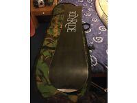Snowboard RIDE Profile 156 with Ride Flight Tomcat bindings