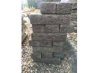 Natural stone look bricks - tumbled grey (x53)