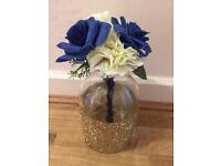 Handmade White & Blue Wedding Bouquet