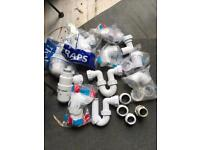 Basin traps and waste compression fittings