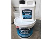 Waterproof membrane paint for wet room