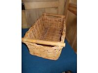 Wicker basket with handles ideal shop display
