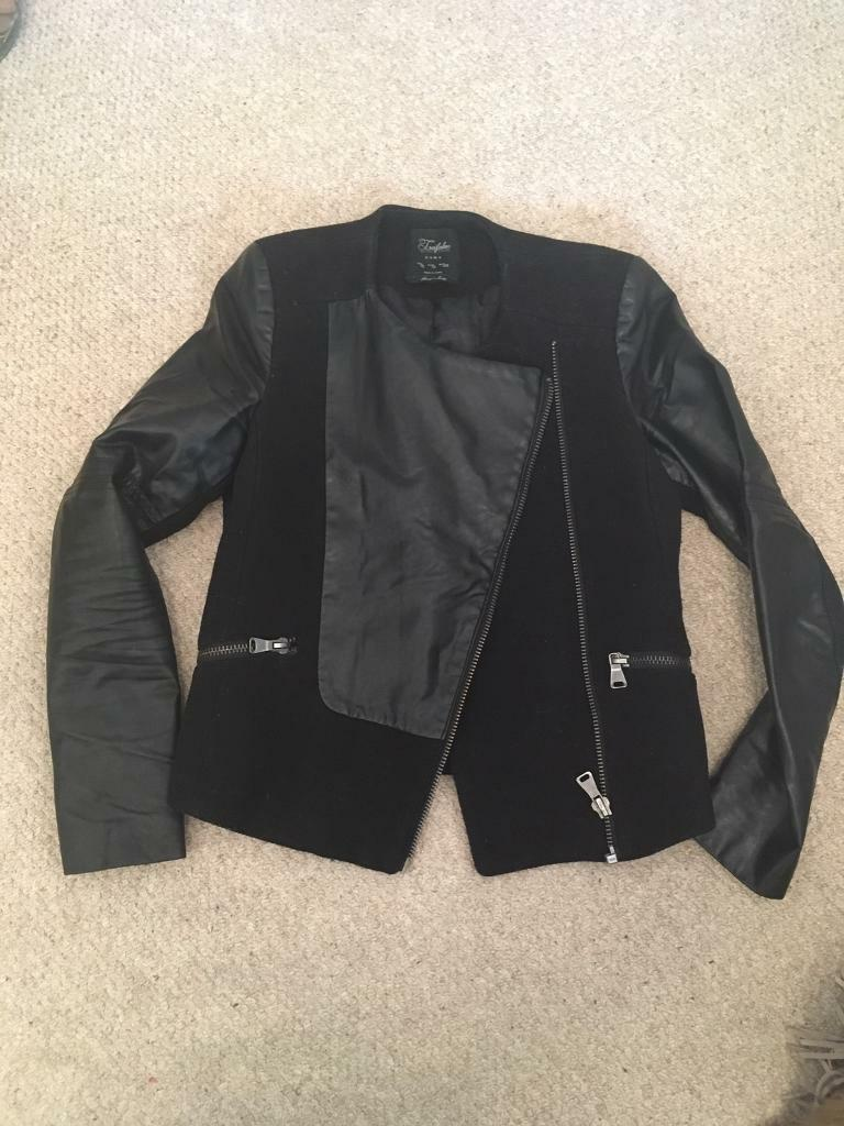 d42ab771 Black Zara biker jacket | in Worcester Park, London | Gumtree