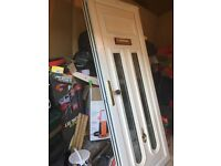 UPVC door for sale in great condition hardly used in white colour with double glazed glass only £110