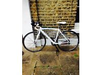 ROAD BIKE BIANCHI REPARTO CORSE RARELY USED - £560 INCL. TRAVEL/LARGE TYRE PUMP + LOCK + NEW LIGHTS