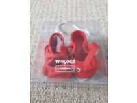 Lovely red baby pram shoes in box