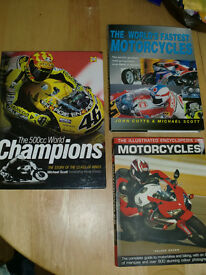 a selection of bike books