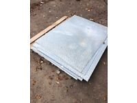Checker plate/chequer plate/tread plate/kick plate 3mm thick steel