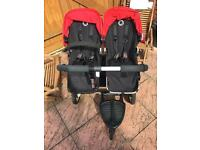 Bugaboo Double pushchair with extras