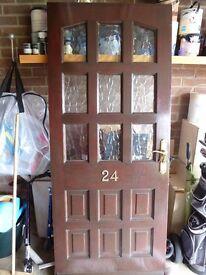 mahogany hardwood front door
