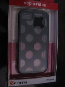 Griffin Apple iPhone 5 / 5S / SE Case / Back Cover. Protect Smart Phone Frame / edge / Corner. AUX Audio. NEW
