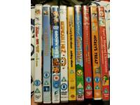 Assorted kids/family dvds 30p each