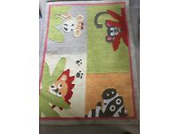 Child's room animal rug