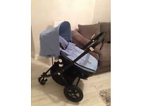 Bugaboo cameleon 3 ice blue with accessories