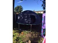 10ft trampoline with enclosure and tent **** REDUCED*****