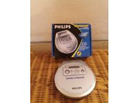 PHILIPS SHOCKPROOF AX2200 PORTABLE CD PLAYER