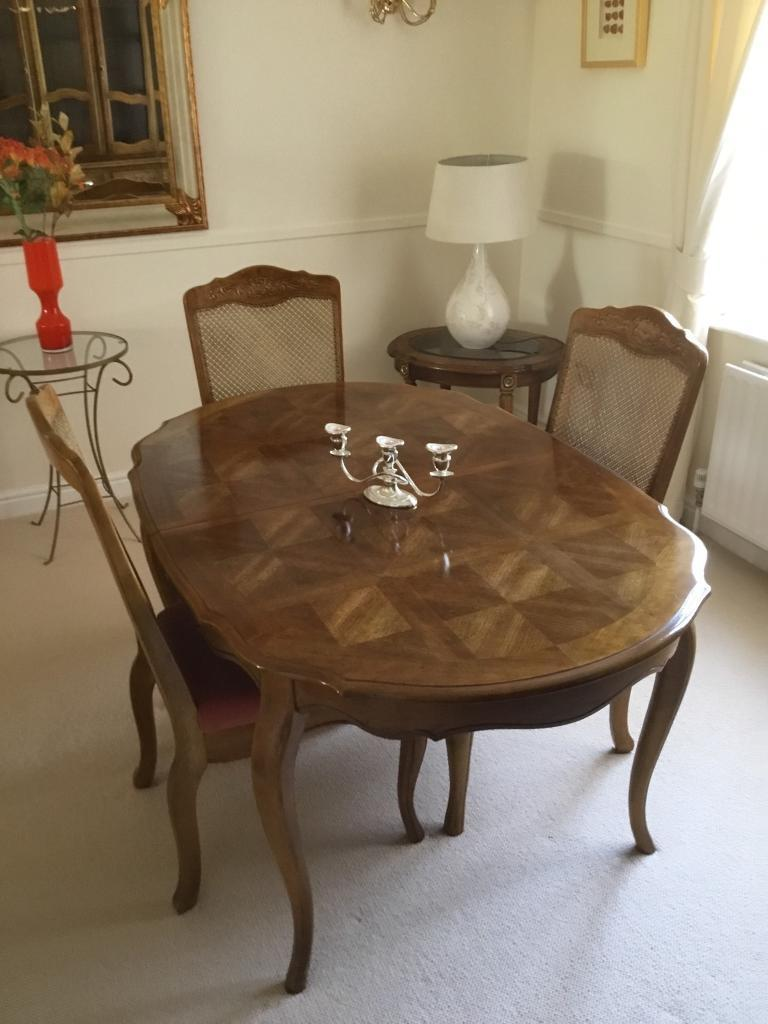 Dining Table 6x Chairs Buffet Hutch And End