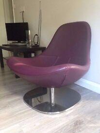 IKEA LEATHER TIRUP SWIVEL CHAIR - Purple