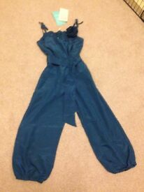 Monsoon girls teal jumpsuit brand new age 4-5 years