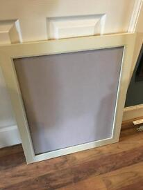 Large Cream Frame, used, backing board but no glass.