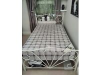 4 foot small double bed and mattress