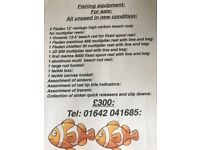 Fishing Equipment For Sale - All Unused in New Condition
