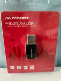 Comfast 1300mbps dual band wireless USB adapter
