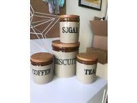 Vintage Tea Coffee Sugar Biscuit Pot Set