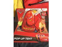 Disney Cars Lightning McQueen Pop Up Tent