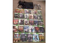 Elite Xbox 360 250gb, 29 Games with cables