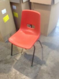 Orange Stacking Chairs 28 available