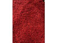 Round Red Carpet Rug - 1m 80cms/2m diameter
